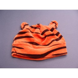 Bonnet orange à rayures