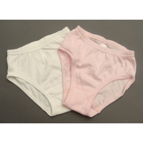 2 culottes blanche et rose - Palomino