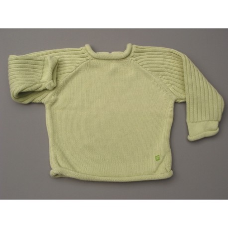 Pull vert style tricot - Boutchou