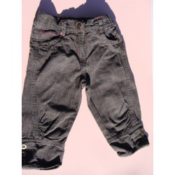 Pantalon 3/4 gris et brun - Girls