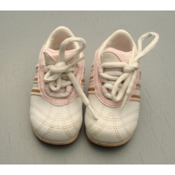 Baskets blanches et roses - 19 - Adidas