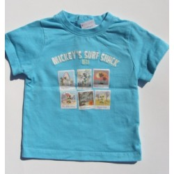 T-shirt turquoise Mickey - 12 mois - Disney