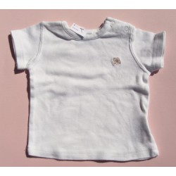 T-shirt blanc - 3 mois - New Born
